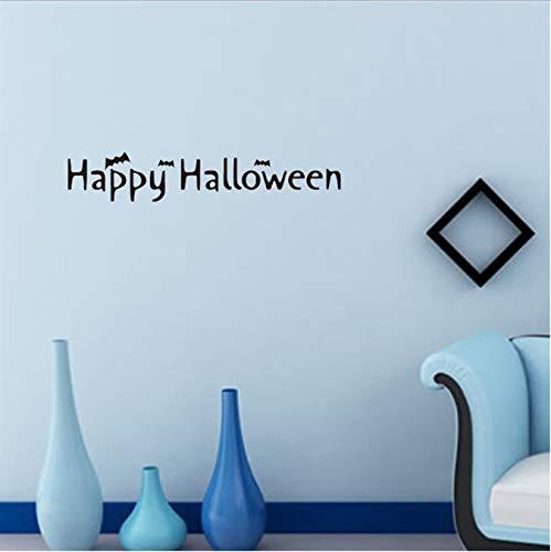 Wandaufkleber Halloween Brief Tapeten Happy Halloween Hintergrund Fenster Dekoration Aufkleber Dekor 57X10.5Cm