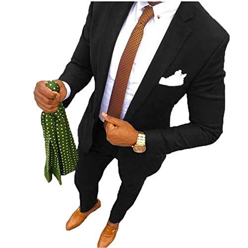 YSMO Herren 2 Stück Anzüge Slim fit Business Anzug Best Man Männlich Mantel -