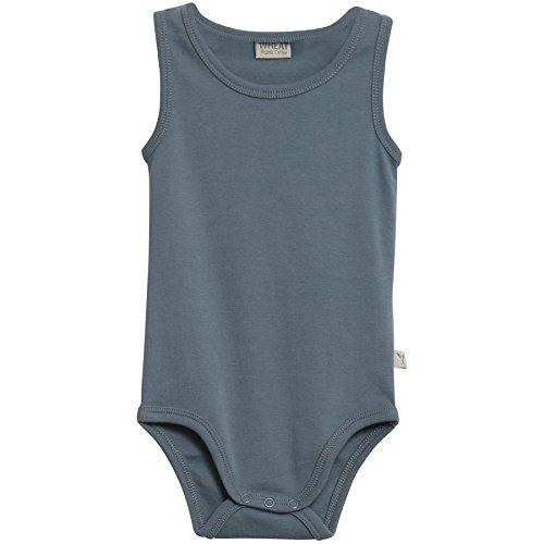 Wheat Baby-Jungen Body Ärmellos Bio-Baumwolle, Blau (Blue 1043), 80 (Herstellergröße:12m)