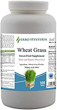 Herbo Hysteria Wheatgrass Tablets 500mg - 500 Tablet
