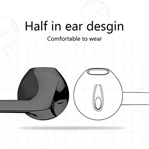 SHAIMU Earphone EPA-103 Headphone Headset for Apple iPhone 5s, 5, 6, 6s Plus SE & iPad Devices (Type4, Black) Image 2