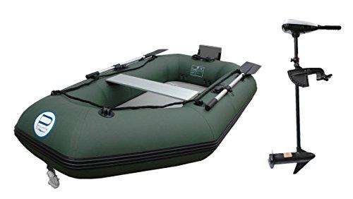 Schlauchboot mit Motor: Set Prowake Angelboot Luftboden IBA 250cm mit Elektromotor PSM40