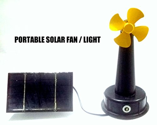 PORTABLE SOLAR FAN / LIGHT POLY CRYSTALLINE SOLAR PANEL  available at amazon for Rs.350
