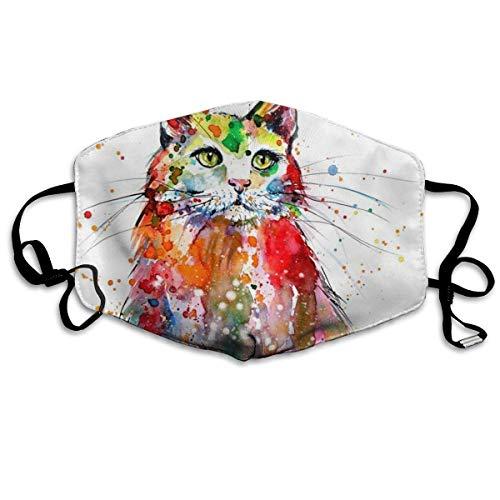 Cute Halloween Gesicht Malen - liang4268 Mundmasken Cute Cats Colorful Antidust