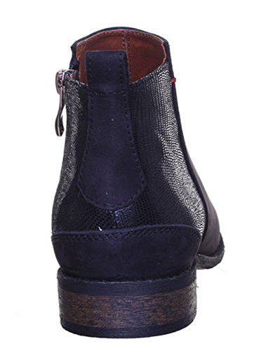 Justin Reece Femme realleather Cheville Serpent Style Cowboy Bottes Taille 3 4 5 6 7 8 Black T39