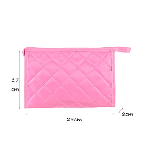 CLOTHES- Piccolo sacchetto cosmetico portatile sacchetto cosmetico portatile sacchetto cosmetico portatile sacchetto di lavaggio sacchetto di stoccaggio ( Colore : Il blu scuro. ) Rosa