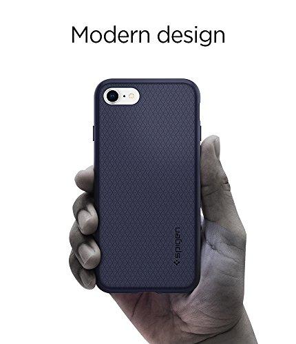iPhone 8 PLUS / 7 PLUS Hülle, Spigen® [Liquid Air] iPhone 8 PLUS Hülle, Soft Capsule [Schwarz] Luftpolster-Technologie Handyülle - Soft Flex Premium-TPU Schutzhülle für Apple iPhone 7 PLUS Hülle / iPh LA Midnight Blue