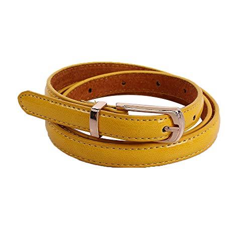 Cinturones de Mujer Para Vestidos de Fiesta, ❤️ Zolimx Mujeres Medio Ancho Imitación Cuero Cintura Cinturón Dama Anillo Hebilla Sólido Pretina