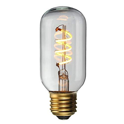 QWERBAN Vintage LED-Licht E27 4 Watt Dimmbar Industrie Filament Led-Lampe Retro Glas Urlaub Lichter Dekor Kronleuchter Beleuchtung (Farbe : T45, Niedrige Art : 220V) -