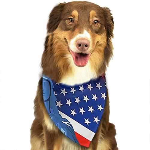 Osmykqe Hundebandana-Haustier-Schal-amerikanische Flagge-Klassische niedliche Haustier-Hündchen-Bandana-Schal-Lätzchen