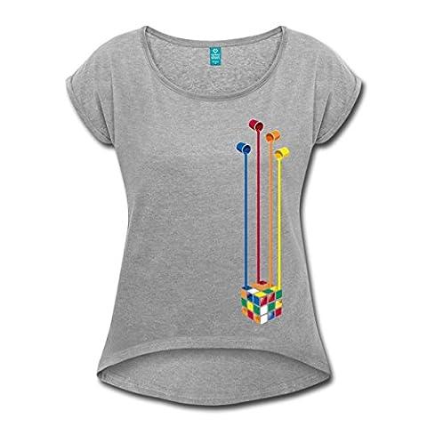 Rubik's Cube Peinture Seaux À Couleurs T-shirt Femme à manches