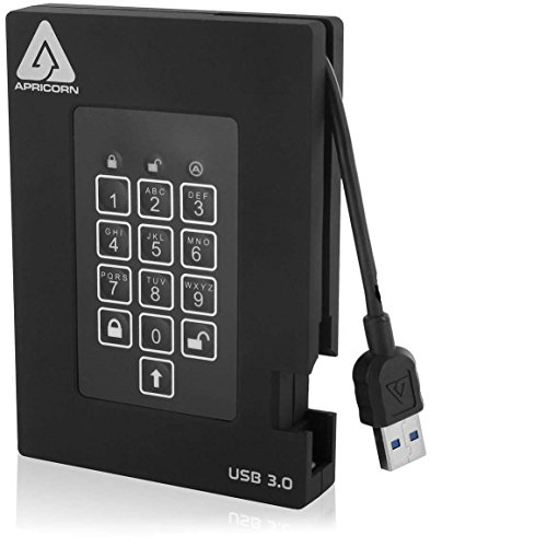 Apricorn A25-3PL256-S1000F 1TB External Hard Disk Black Price in India