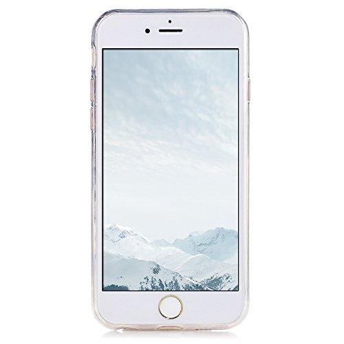 Coque iPhone 6 , iPhone 6S Etui Silicone Transparent Doux TPU Housse Cas Souple Flexible Ultra Mince Csae Cover Soft Gel Licorne et Nuage Motif Dessin Mode E-Lush Enveloppe Coque Pour Apple iPhone 6 6 Bleu