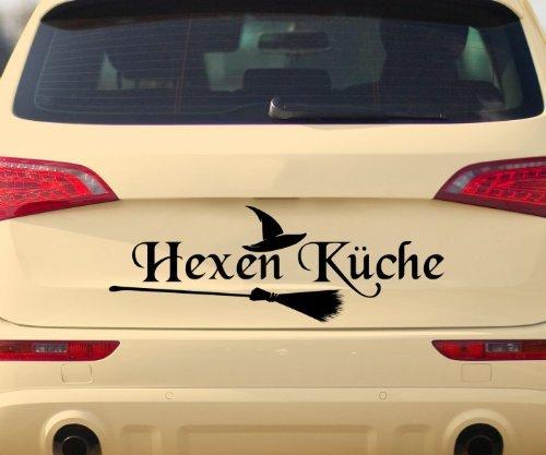 Küche Hut Besen Dekoration Autoaufkleber Sticker 5Q700, Farbe:Königsblau Matt;Breite vom Motiv:40cm ()