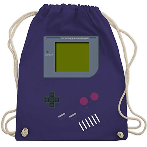 Erwachsenen-nerd (Nerds & Geeks - Gameboy - Unisize - Lila - WM110 - Turnbeutel & Gym Bag)