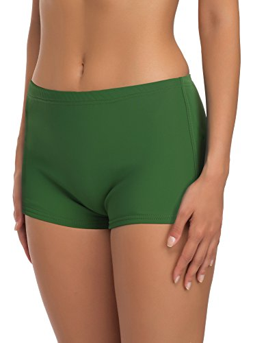Merry Style Damen Badeshorts Bikinihose Modell L23L1 (Grün (70082), 38)