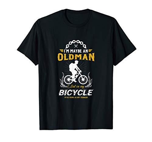 Herren Alter Mann Fahrradfahrer T-Shirt Bike Bicycle Geschenk -