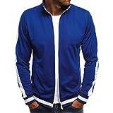 MEIbax Herren Feste beiläufige Reißverschluss Trainingsanzüge Mantel Jacke Langarm Outwear Sportswear Sweatjacke