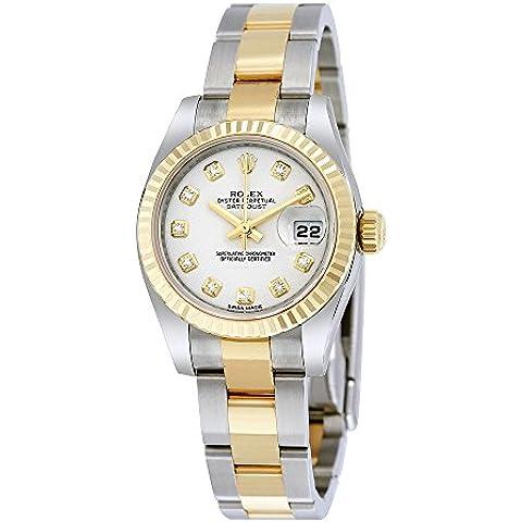 Rolex Lady Datejust 26quadrante bianco orologio automatico in acciaio inox e oro giallo 18K Oyster Rolex 179173WDO