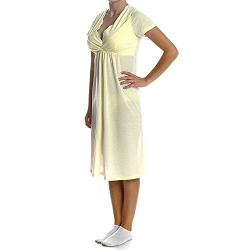 BEZLIT Damen Pyjama Schlafrock Nachthemd Schlafanzug 21386, Farbe:Gelb;Größe:L
