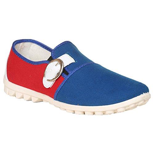 Thisrupt Men's Blue & Red Canvas Shoes 6 UK