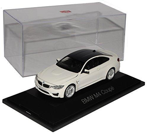 BMW-4er-M4-F82-Coupe-Alpin-Weiss-Ab-2014-143-Herpa-Modell-Auto-mit-oder-ohne-individiuellem-Wunschkennzeichen