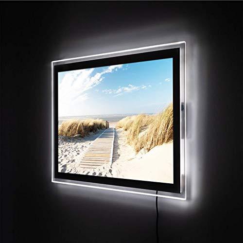 LED-Wandbild Leuchtbild Beleuchtetes Wandbild Acrylglasbild - (84x60, An der Ostsee)