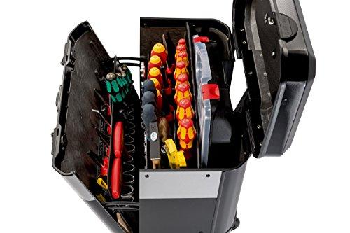 PARAT 2.012.530.981 Evolution Werkzeugkoffer mit genähten Einsteckfächern schwarz/silber (Ohne Inhalt) - 3
