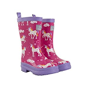 Hatley Girl's Printed Wellington Rain Boots , Pink (Rainbow Unicorns), 8 UK (Manufacturer Size: 9 US Child)