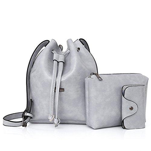 FZHLYNew Dreiteiliges Set Kindertasche Mode Schultertasche White