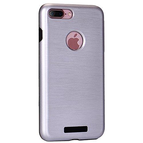 """iPhone 7Plus Schutzhülle, [Tough Armor] CLTPY iPhone 7Plus Handycase Ultra Hybrid PC & Silikon Abdeckung mit Flip [Kickstand] & Kartenschlitz, Schwarz Rüstung Harter Fall für 5.5"""" Apple iPhone 7Plus ( Silber A"""