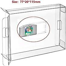 Ruitroliker 10Pcs Clear Funda Caso protector de la manga para N64 Juegos Cartucho Box