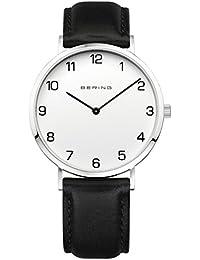 d733d9d649a3 BERING Reloj Analógico para Hombre de Cuarzo con Correa en Cuero 13940-404