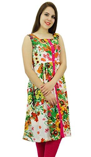 Phagun Polyester Kurti Ethnique Designer Floral Print Femmes Kurta Décontracté Multicolore