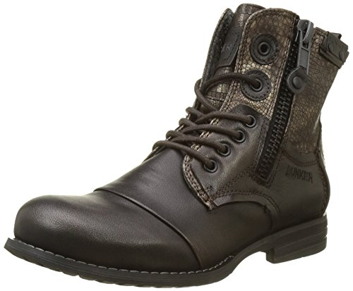 For Zip Chaussures Femme Moro Marron Bottes Motardes Bunker Bzgwqcnh vqxp40wg