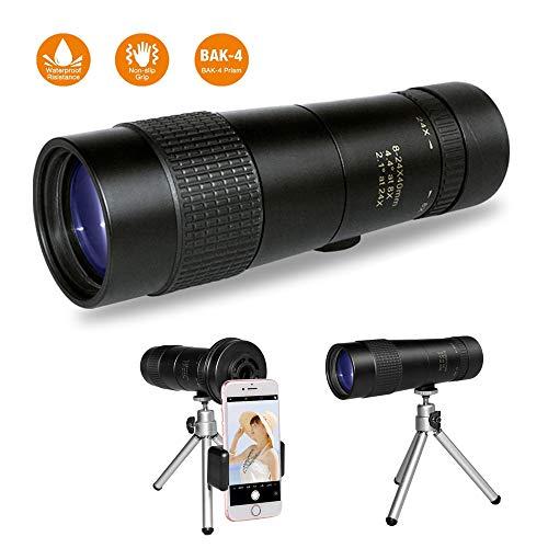 Hd 8-24x40 Monocular óptico De Doble Foco