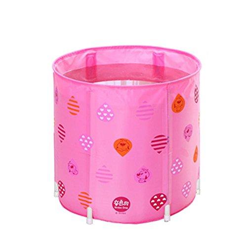 Faltbare aufblasbare dicke warme Erwachsene Badewanne Kinder aufblasbare Pool Rosa Baby Badewanne , Pink , 70cm