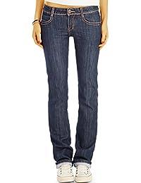 Bestyledberlin pantalon en jean femme, jean bootcut, taille basse j12g
