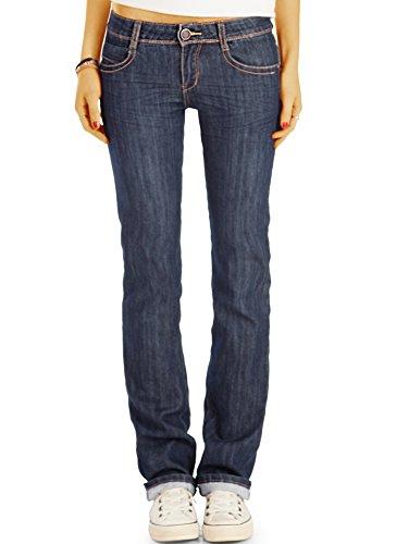 Bestyledberlin Damen Boot-Cut Jeans, Slim Fit Schlaghose, Ausgestellte Hüftjeans j12g 36/S (Jeans-jeans Designer Vintage Cut)