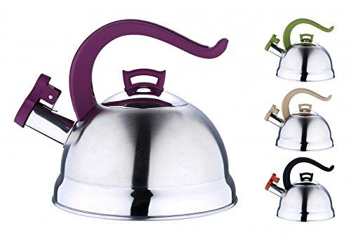 2,5 Liter EDELSTAHL Kessel – Induktion – Flötenkessel – Teekessel – Wasserkessel – Induktionskessel – Pfeifkessel – Teekanne