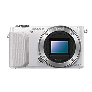 Sony NEX-3NLW Systemkamera (16,1 Megapixel, 7,5 cm (3 Zoll) LCD-Display, Full-HD, HDMI, USB 2.0) inkl. SEL-P 16-50mm Objektiv weiß