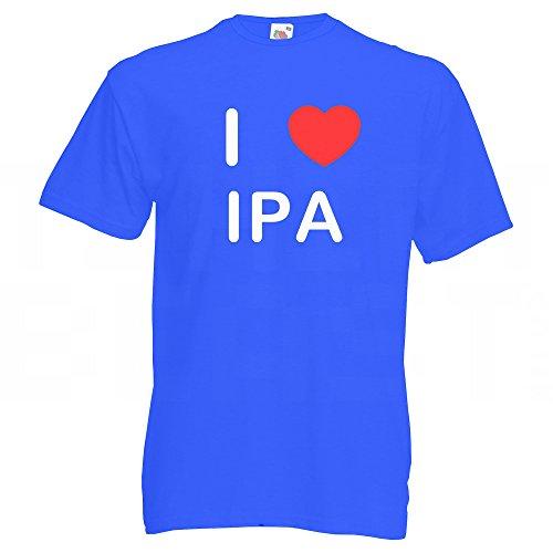 I love IPA - T Shirt Blau