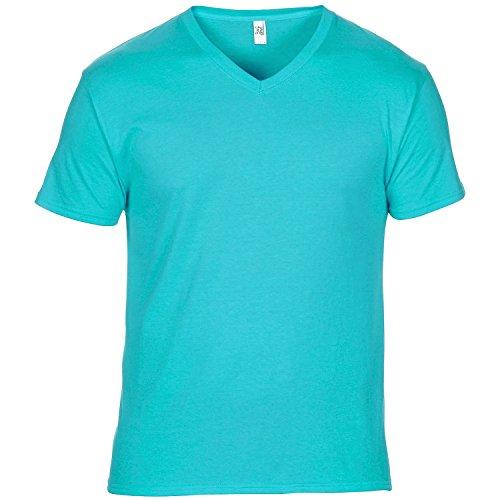 Anvil Herren T-Shirt mit V-Ausschnitt, Kurzarm, besonders leicht Silber