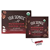 Four Sigmatic Foods Mushroom Coffee Mix with Cordyceps and Chaga 10 Sachets, 30 g
