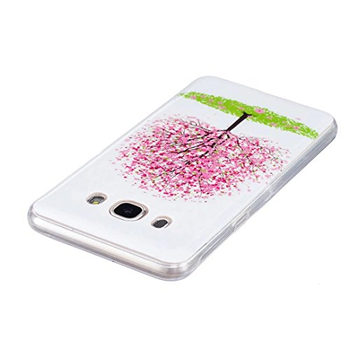 Samsung Galaxy J7 (2016 Version) Coque Gel TPU Silicone Etui Intégrale Transparent Case pour Samsung Galaxy J7 (2016 Version) Housse Protection Full Silicone Souple Case, Vandot Samsung Galaxy J7 (201 Light-2