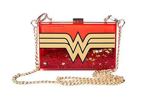 Sac bandoulire paillettes DC Comics Wonder Woman Wonderlust Perspex scintillant