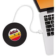 Mustard Hot Tracks - Posavasos Calentador de Tazas USB, Color Negro