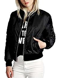 d137bf0d9b Amazon.it: Bomber Nero - Donna: Abbigliamento