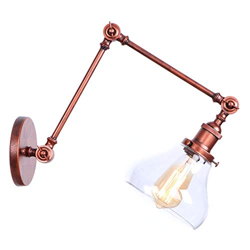 LIGHTLAMPER Anpassung/Wandleuchte/Vintage/Industrie/Knopf/Wandlampen/Metall + Kunststoff/Kunst/Dekoration/Innenbeleuchtung / E27 / Warmweiß/Max 60w / Größe: W200 * H200 * E100 (mm) -