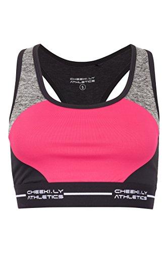 CHEEKI. LY ATHLETICS Damen Sport-Top und Bra Bal Habour, Black, L, 10049 (Bali-support Bras)